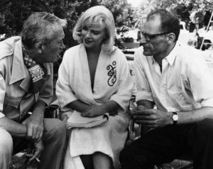 John Huston, Marilyn Monroe, and Arthur Miller